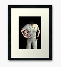 sorry... Framed Print
