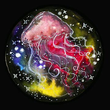 Watercolor Galaxy Jellyfish by shashira