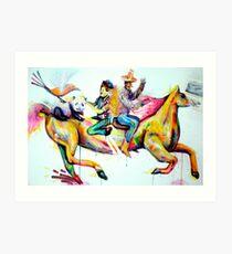 """""""Crazy Horseride"""" Art Print"""