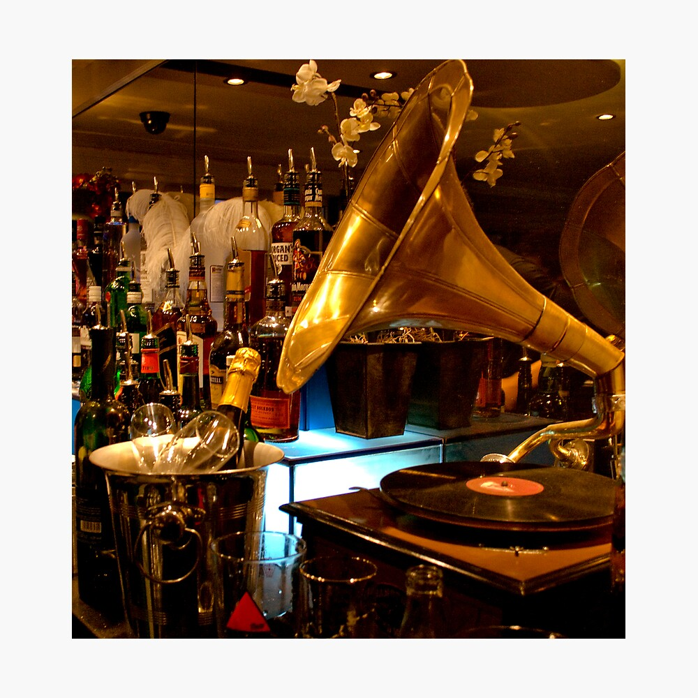 Gramophone at the Blind Pig, Norwich Photographic Print