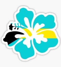 Pegatina Hibisco de Bahamas