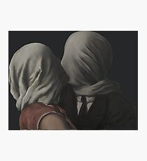 René Magritte – The Lovers (Paris 1928) Photographic Print
