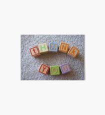 Baby Blocks Thank You Art Board