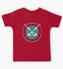 Camp Kikiwaka - Bunk'd - red background Kids Tee