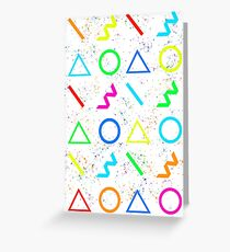 80s INSPIRED PATTERN Greeting Card