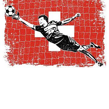 Switzerland Soccer Goalie Goal Keeper Shirt by zeno27