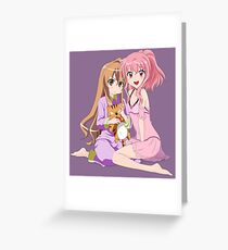 Taiga and Louise - Toradora / Zero no Tsukaima Greeting Card