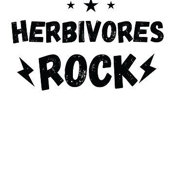 Herbivores Rock Animals Vegan Dinosaurs Eating Plants Shirt by allsortsmarket