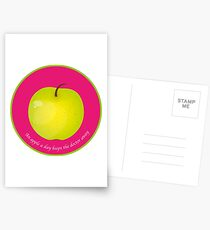 An apple a day keeps the Doctor away Cartes postales