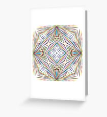 chromatic explosion colorful rainbow seamless repeat pattern Greeting Card