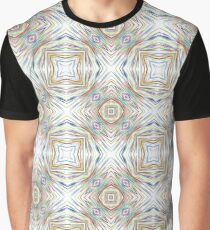 abstract rainbow art chromatic seamless colorful repeat pattern Graphic T-Shirt
