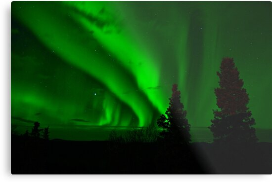 aurora borealis green by marasdaughter