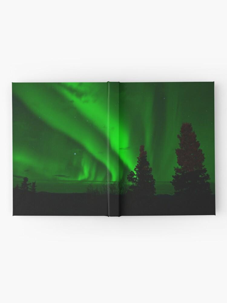 Alternative Ansicht von Aurora Borealis grün Notizbuch