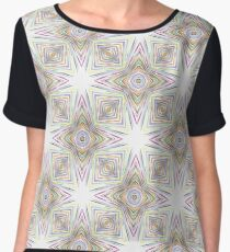 rainbow prismatic colorful seamless repeat pattern Chiffon Top