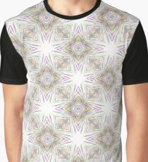 rainbow prismatic colorful seamless repeat pattern Graphic T-Shirt