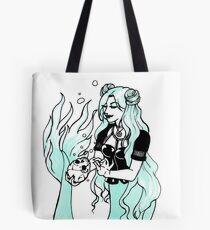 Goth Mermaid Tote Bag