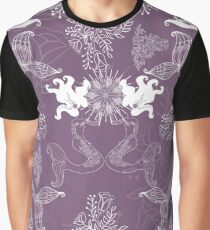 Mauve Willow Mermaids Graphic T-Shirt