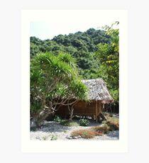 Monkey Island Hut Art Print
