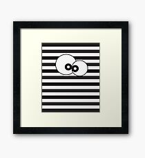 Black & White Funny Googly Eyed Monster Framed Print