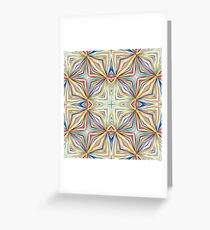 geometric chromatic colorful art abstract seamless repeat pattern Greeting Card