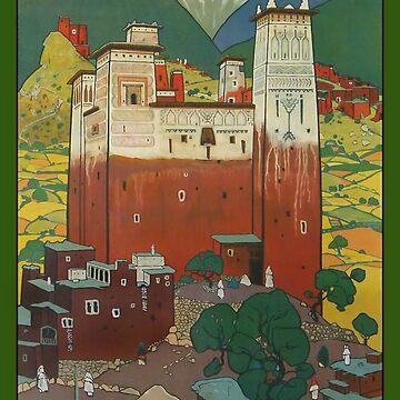 Le Grand Atlas Affiche L'Art Déco by Goosekaid