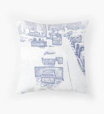 A Little City Throw Pillow