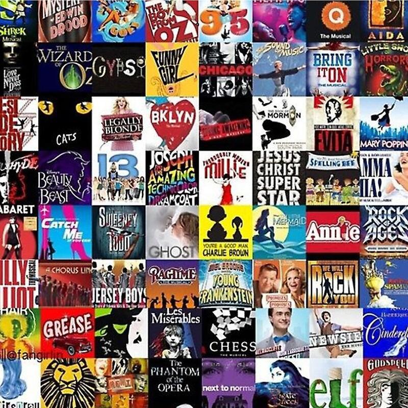 Quot Musicals Collage Leggings Quot Canvas Prints By Itsmegabriela