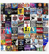 Musicals Collage leggings Poster