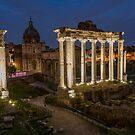 The Roman Forum at Night by Gary Lengyel