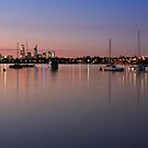 Moored boats by Geoff White