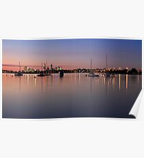 Moored boats Poster
