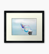 Climbing with the Red Arrows Framed Print