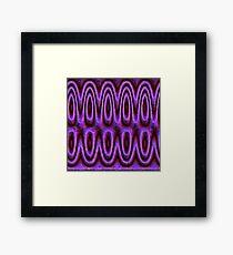 Pink neon Waves Framed Print