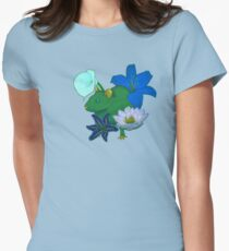Chinese Zodiac Lucky Colours and Flowers Rat Women's Fitted T-Shirt