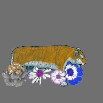 Chinese Zodiac Lucky Colours and Flowers Tiger by KristalStittle
