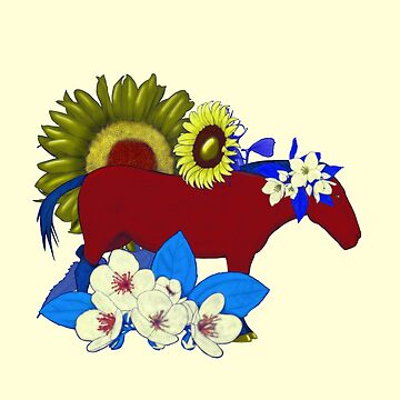 Chinese Zodiac Lucky Colours and Flowers Horse by KristalStittle