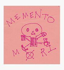 Memento Mori Drawing on Post-It  Photographic Print