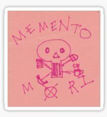 Memento Mori Drawing on Post-It  Sticker