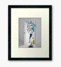 Open the door to your imagination Framed Print