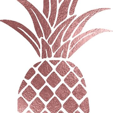 Rose Gold Foil Pineapple Print by bombinodesigns