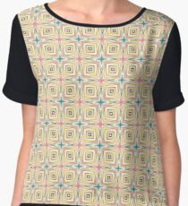 colorful explode art seamless repeat pattern Chiffon Top