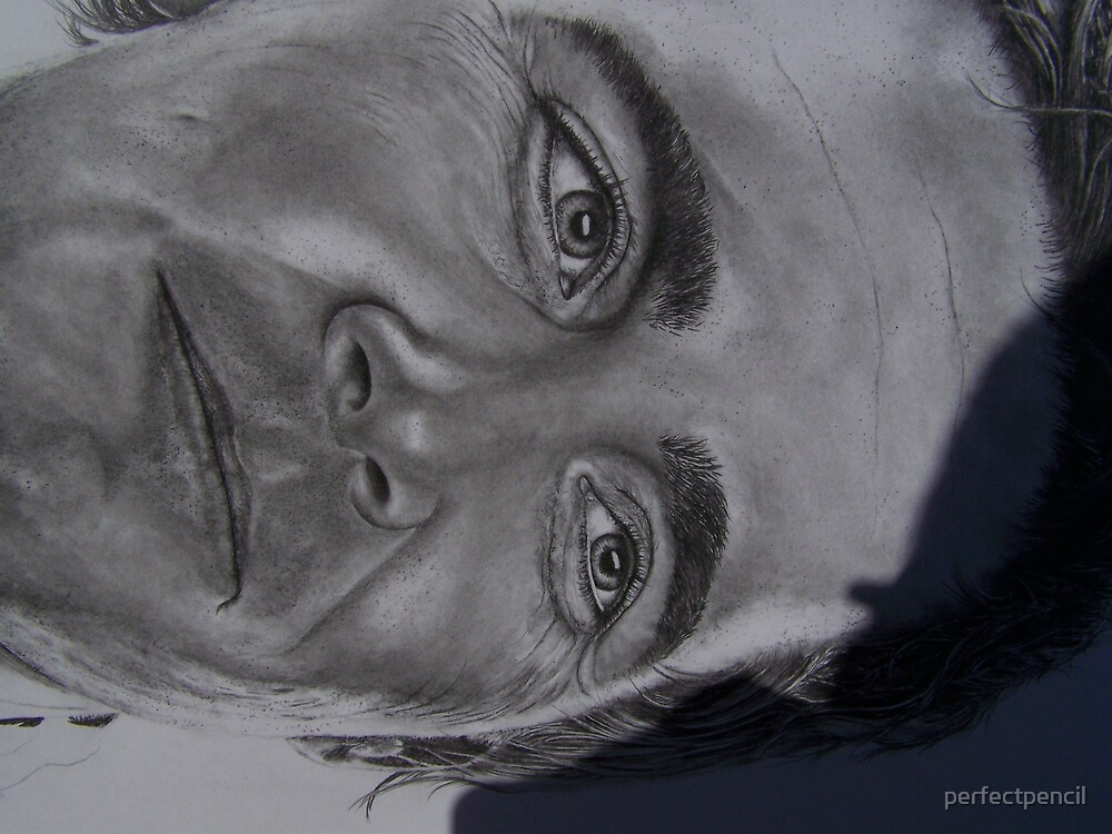 close up of Jimmy Johnson nascar driver by perfectpencil