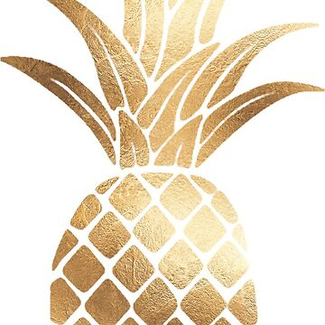 Gold Foil Pineapple  by bombinodesigns