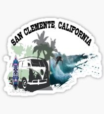 Camping and Windsurfing at San Clemente, California Sticker