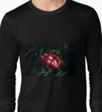 Red peonies in the garden Long Sleeve T-Shirt