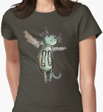 Winged Cat colored version Women's Fitted T-Shirt