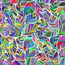 Colorful Rainbow Leaves Pattern by Twosided