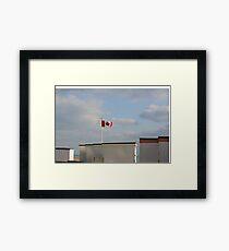 CANADIAN  flag flies over UK Goring WW2 billet  DDay zone Framed Print