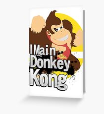 Super Smash Bros. Ultimate - I Main Donkey Kong (DK) Greeting Card