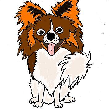 Funny Pomeranian Puppy Dog Cartoon by naturesfancy